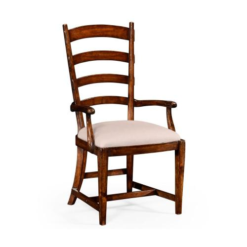 French ladderback style carver chair