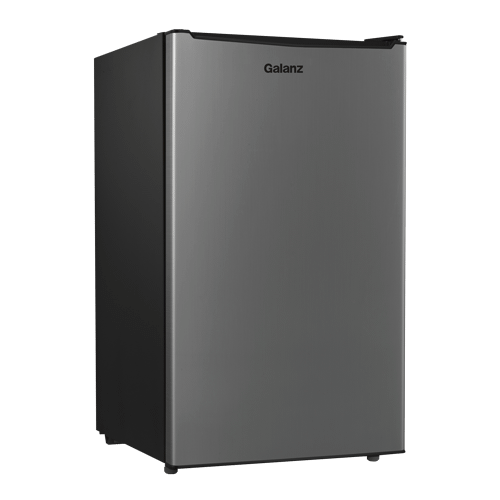 Galanz - Galanz 3.5 Cu Ft Mini Refrigerator in Stainless Steel Look