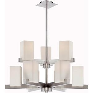 3/6-lite Chandelier, Ps/frost Glass Shade,e27 Type A 60wx9