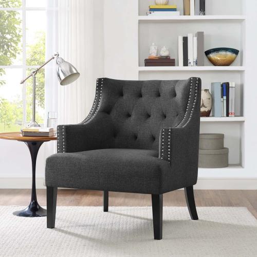Modway - Regard Wood Armchair in Gray