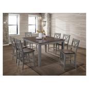 5059 A La Carte Grey 3-Piece Drop-Leaf Dining Set
