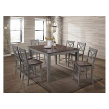 5059 A La Carte Grey 5-Piece Round Dining Set