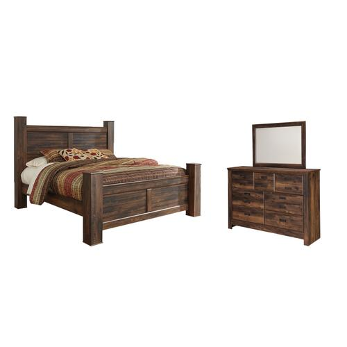 Product Image - King Poster Bed With Mirrored Dresser