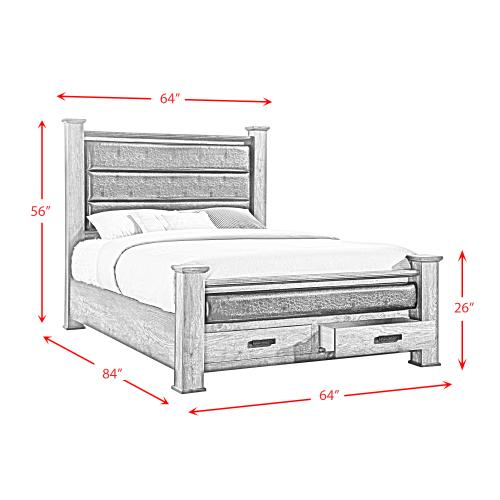 Nathan Queen Storage Poster Bed