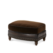 See Details - Leather/Fabric Chair Ottoman - Opt1
