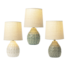 Embossed Lines & Dot Accent Lamp. 40W Max. (3 pc. ppk.)