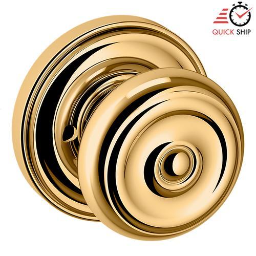Baldwin - Non-Lacquered Brass 5020 Estate Knob with 5048 Rose