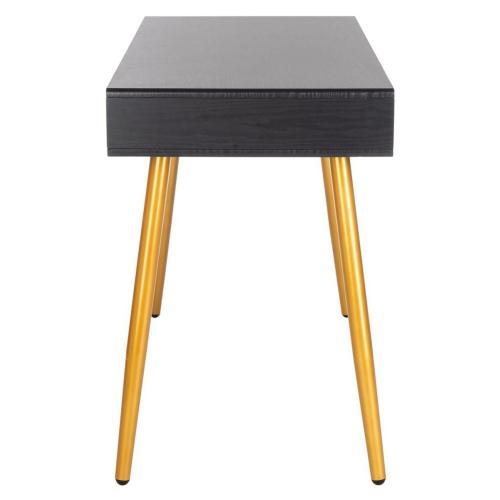 Jorja 1 Drawer 1 Shelf Desk - Black / Gold