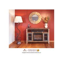 See Details - Fireplace & TV-Stand w/2 iron mesh doors & space for soundbar system the heater is included