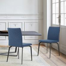 See Details - Lyon Blue Fabric and Metal Dining Room Chairs - Set of 2