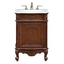 24 In. Single Bathroom Vanity Set In Coffee