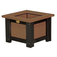 "See Details - 15"" Square Planter, Antique-mahogany-black"