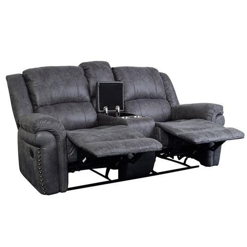 Porter International Designs - Socorro Gray Reclining Sofa, Console Loveseat & Recliner, M7625