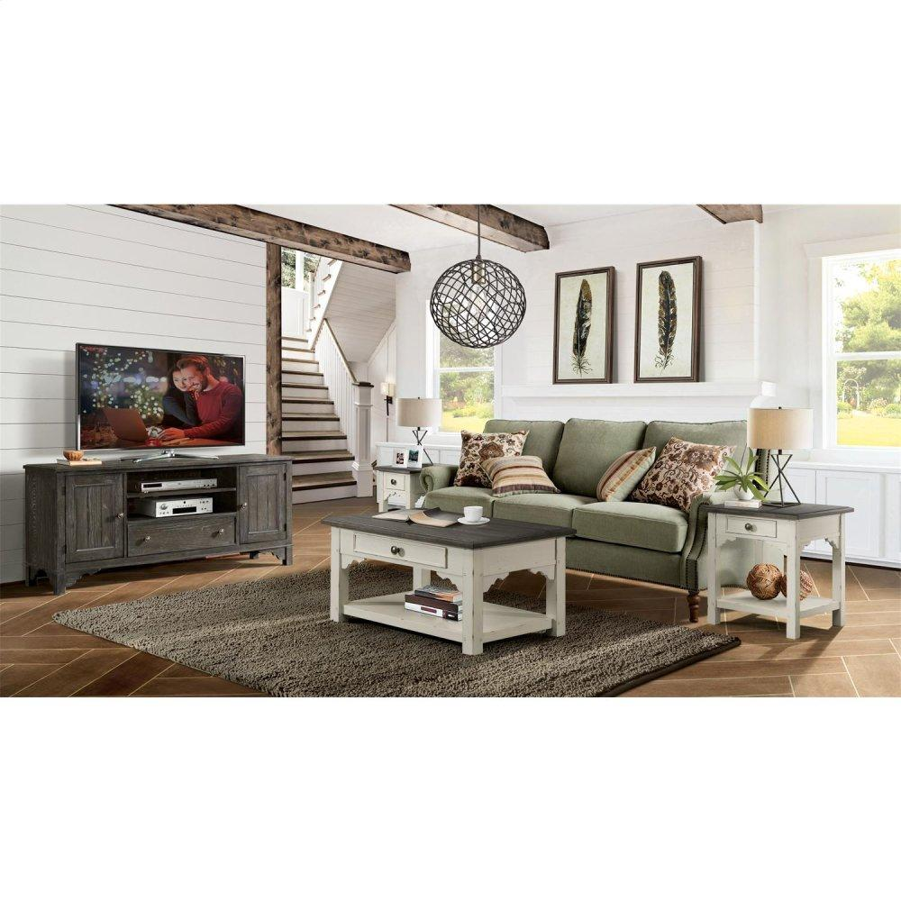 See Details - Grand Haven - Small Coffee Table - Feathered White/rich Charcoal Finish