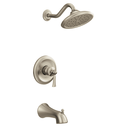 Wynford brushed nickel m-core 3-series tub/shower