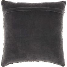 "Luminescence E1199 Charcoal 18"" X 18"" Throw Pillow"