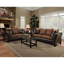 Riverstone Sierra Chocolate Microfiber Living Room Set