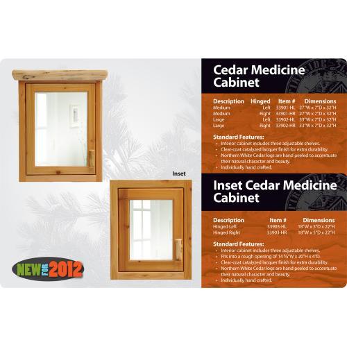 Fireside Lodge - Cedar Medicine Cabinet