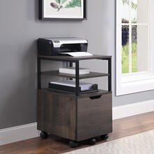 Contempo Mobile Storage Cart With File Drawer