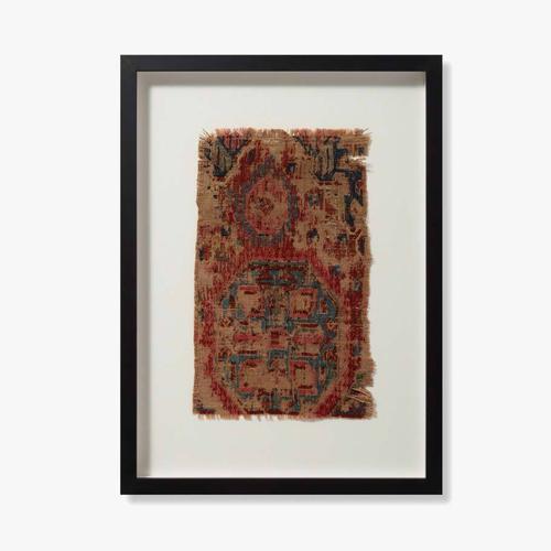 0351760012 Vintage Rug Fragment Wall Art