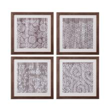 4 Pc Weathered Wood Patterns