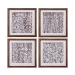 4 Pc Weathered Wood Patterns