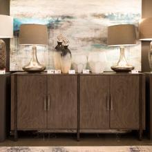 See Details - Hawthorne Estate Inset Wood Frame Grey Wash Sideboard