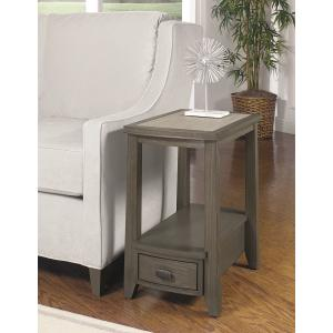 Null Furniture Inc - Chairside End in a Pearl Gray textured bamboo Finish       (2217-07,58252)