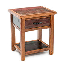 View Product - Cowboy Up 1 Drawer Nightstand With Shelf