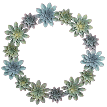 View Product - Succulent Wreath Wall Decor
