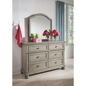 Lettner Bedroom Mirror Light Gray