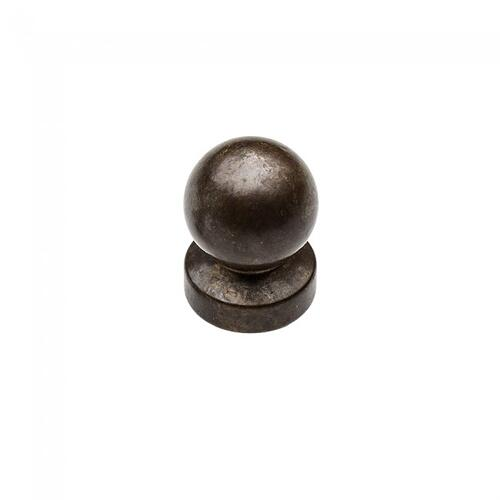 "Rocky Mountain Hardware - Ball Finial Cap 1/2"" Barrel White Bronze Light"