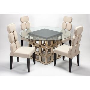 4504dt4 In By Artmax In Scottsdale Az Dining Table Base With Glass 28x28x30 Glass Top Dia 60 1 2 Thickness