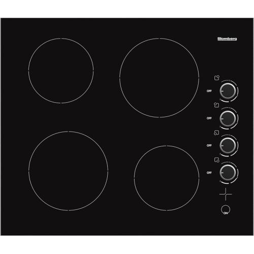 Blomberg Appliances - 24in electric cooktop, 4 burner, knob controls