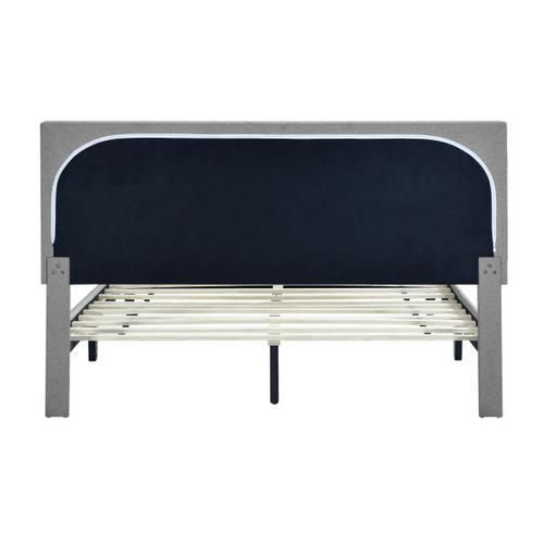 Mid-Century Modern King Platform Bed in Gray