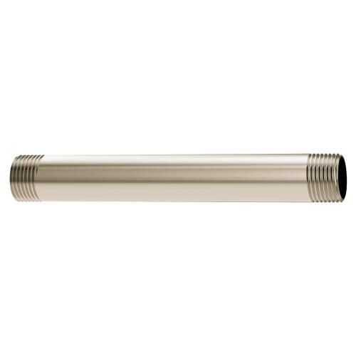 "Moen Polished Nickel 6"" Straight Shower Arm (8.7""L x 5.2""W x 1""H)"