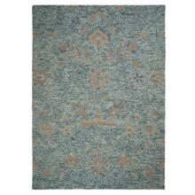 "Athena-Floral Aqua Blue - Rectangle - 27"" x 45"""