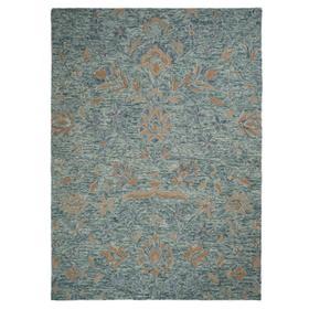 "Athena-Floral Aqua Blue - Rectangle - 27"" x 45"""