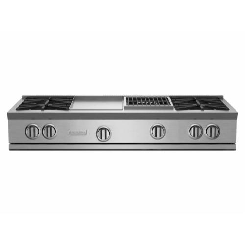 """BlueStar - 48"""" RNB Rangetop with 12"""" Griddle & Charbroiler"""