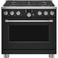 "See Details - Café 36"" Smart All-Gas Commercial-Style Range Matte Black"