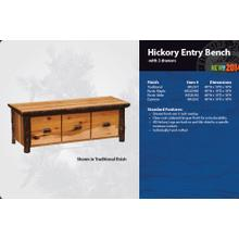 See Details - Hickory Entry Bench