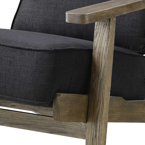 Product Image - Metro Accent Chair in Onyx w/ Antique Legs