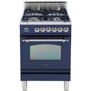 Nostalgie 24 Inch Gas Liquid Propane Freestanding Range in Blue with Chrome Trim