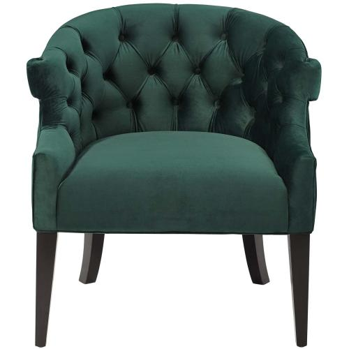 Precept Armchair Performance Velvet Set of 2 in Green