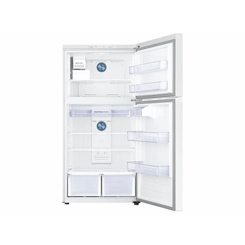 21 cu. ft. Top Freezer Refrigerator with FlexZone™ and Ice Maker in White