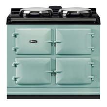 "AGA Dual Control 39"" Electric/Natural Gas Pistachio with Stainless Steel trim"