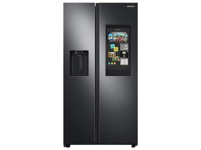 Samsung26.7 Cu. Ft. Large Capacity Side-By-Side Refrigerator With Touch Screen Family Hub™ In Black Stainless Steel