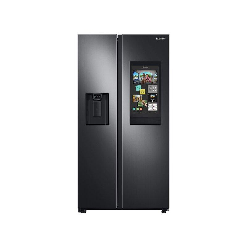 26.7 cu. ft. Large Capacity Side-by-Side Refrigerator with Touch Screen Family Hub™ in Black Stainless Steel