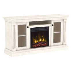 """Twin Star Home Foxmoor TV Stand for TVs up to 60"""" with ClassicFlame® Electric Fireplace"""