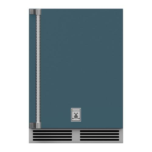 "24"" Hestan Outdoor Dual Zone Refrigerator with Wine Storage (Solid Door) - GRWS Series - Pacific-fog"